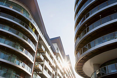 Modern apartment buildings - p9248026f by Image Source