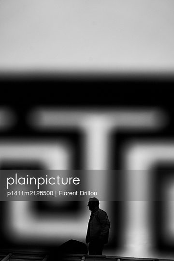 Silhouette of a man - p1411m2128500 by Florent Drillon