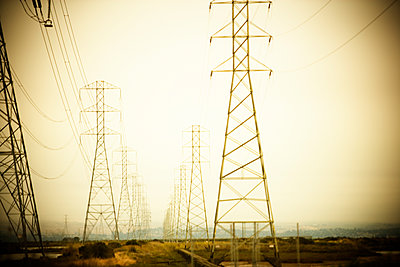 Electric towers. - p343m1554780 by Ron Koeberer