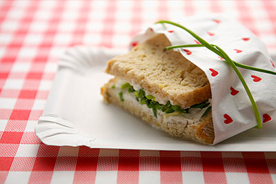 A packed bread with chives - p4732227f by Stock4B