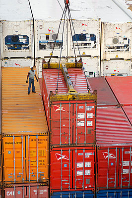 Loading containers on board - p1099m857143 by Sabine Vielmo