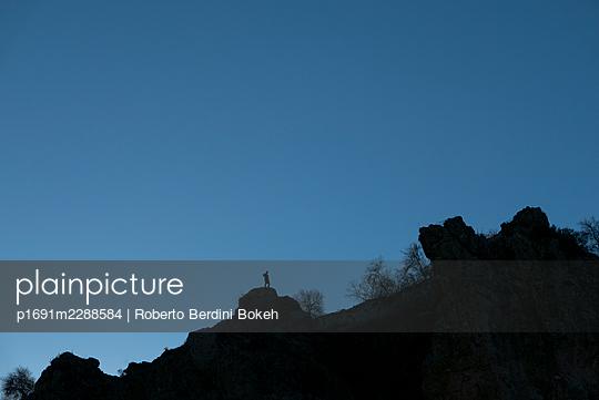 Hiking silhouette - p1691m2288584 by Roberto Berdini Bokeh