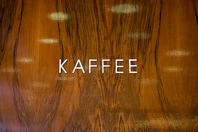 Kaffee sign on a wall - p3018589f by Halfdark