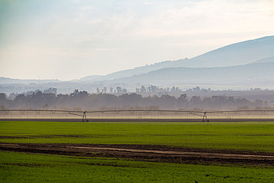 Israeli farm at dusk - p1408m1465085 by Guy Nesher