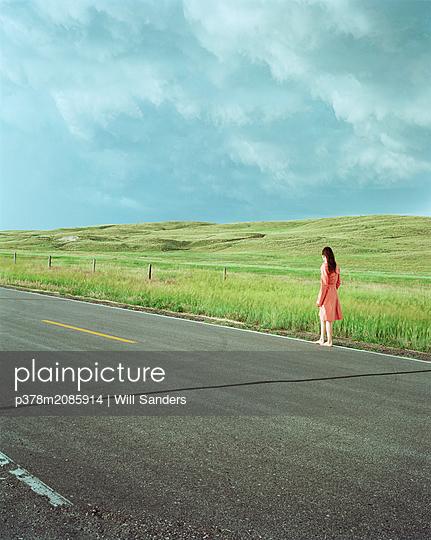Walking Nebraska prairie - p378m2085914 by Will Sanders