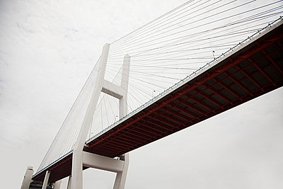 China, shanghai, nanpu bridge - p9244887f by Image Source