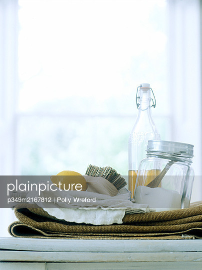 Alternative cleaning products  - p349m2167812 by Polly Wreford