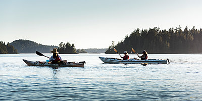 Kayaking in Clayoquot Sound, Vancouver Island; Tofino, British Columbia, Canada  - p442m1523989 by Keith Levit