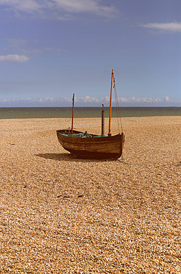 Fishing boat onshore - p1063m1134978 by Ekaterina Vasilyeva