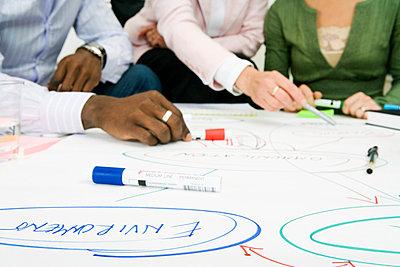 Brainstorming in an office Sweden. - p31218296f by Plattform