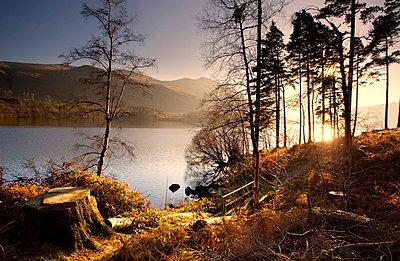 Cumbria, England; Lake scenic at sunrise - p4429988 by John Short