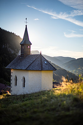 France, Chapel in the French Alps - p1007m2219981 by Tilby Vattard