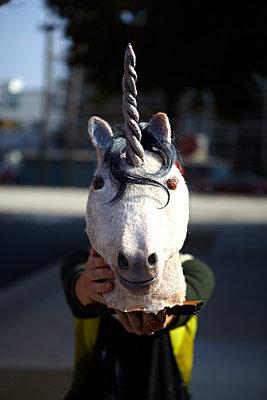 Unicorn Head - p1260m1073077 by Ted Catanzaro