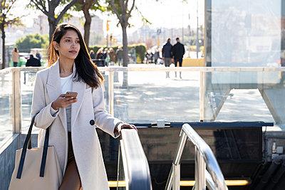 Barcelona, Spain. Young woman commuting. University, student, working, job, commute, indian woman, indian, hindu, publict transport, city, cosmopolitan, susteintable - p300m2166214 von VITTA GALLERY