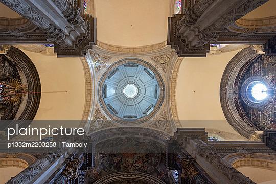 Domed structure, columns, cathedral, Santa María de la Sede, Sevilla, Spain - p1332m2203258 by Tamboly