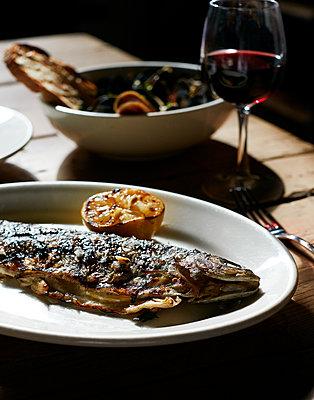 Fish dish - p1397m2054598 by David Prince
