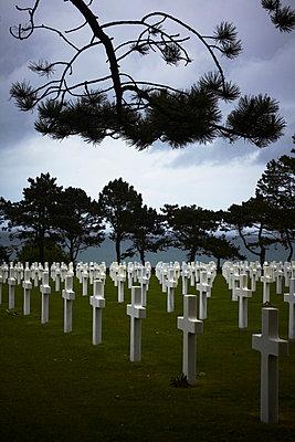 Amerikanischer Soldatenfriedhof am Omaha Beach - p415m822871 von Tanja Luther