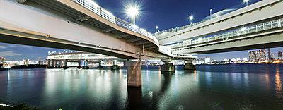 Bridges in Tokyo at night - p913m1138455 by LPF