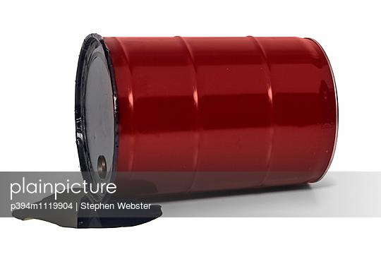 Spilling Oil Barrel - p394m1119904 by Stephen Webster