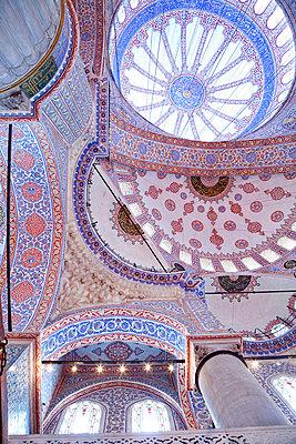 Deckengewölbe der Blauen Moschee - p3820292 von Anna Matzen
