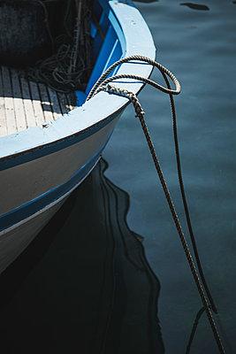 Moored boat - p1290m1169435 by Fabien Courtitarat