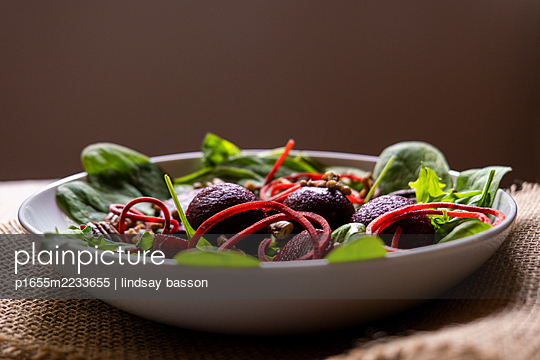 Vegan Beetroot Salad - p1655m2233655 by lindsay basson