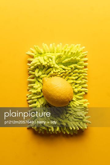 Zitrone auf Mopp - p1212m2057649 von harry + lidy