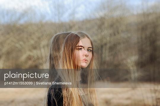 Girl in spring forest - p1412m1553099 by Svetlana Shemeleva