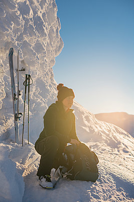 Woman in mountains - p312m2145486 by Hans Berggren