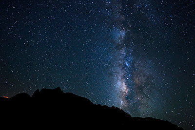Night Sky, Bright Stars and Milky Way Galaxy - p442m1141524 by Design Pics Vibe