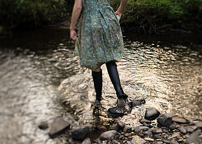 Boots in the Water - p1503m2015951 by Deb Schwedhelm