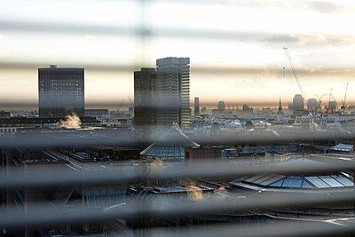 Skyline of London at dusk - p3881052 by Bill Davies