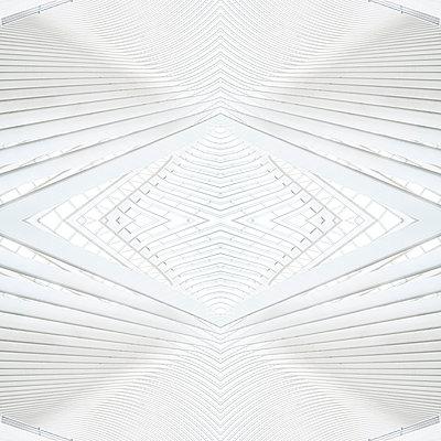 Abstract kaleidoscope pattern Liège-Guillemins station in Liège - p401m2209298 by Frank Baquet