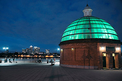 Southern entrance at Greenwich Foot tunnel - p1072m829260 by Neville Mountford-Hoare