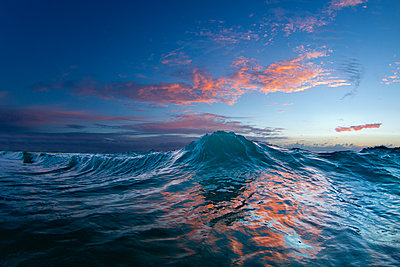 An Ocean Wave In The Early Morning Light On The East Side Of Oahu - p343m1203861 by Sean Davey