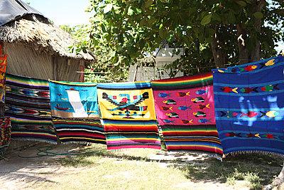 Basthütte; Mexiko - p045m777549 von Jasmin Sander