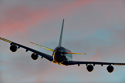Airbus A380 airliner flying - p1048m2035788 by Mark Wagner