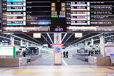 Train time table in Japan - p579m2014832 by Yabo