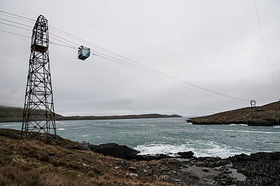Cable car to Dursey Island - p1047m940446 by Sally Mundy