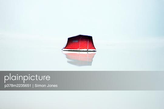 Red tent - p378m2235651 by Simon Jones
