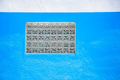 Blue wall - p397m951191 by Peter Glass