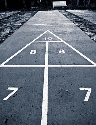 Shuffleboard court. - p1072m874568f by Joseph Shields