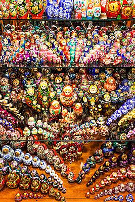 Display of Babushka dolls in Czech Republic - p301m799559f by Sven Hagolani