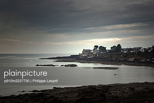 France, Penn Lann, Coastal landscape - p910m2237730 by Philippe Lesprit