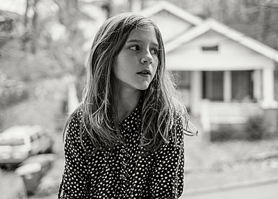 Girl Looking to Side - p1503m2020422 by Deb Schwedhelm
