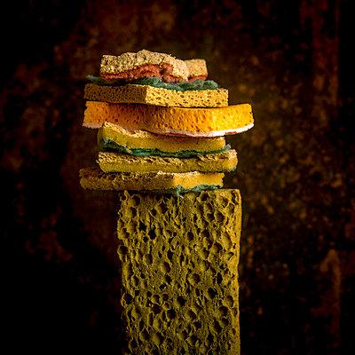 Pile of used sponges - p813m1424602 by B.Jaubert