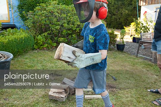 Feuerholz selber machen - p454m2293078 von Lubitz + Dorner
