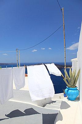 Weiße Wäsche - p0452332 von Jasmin Sander