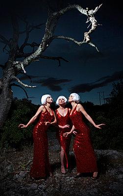 Drei Grazien bei Nacht - p1081m902656 von Cédric Roulliat