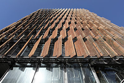 Wooden facade - p1217m1146112 by Andreas Koslowski